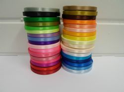 1 roll 6mm 1/4 Satin Ribbon 13 metres UK Wedding Christmas LOTS OF COLOURS